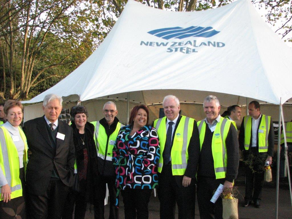 Te Whangai Trustees with Minister Bennett at the NZ Steel sponsored nursery opening.
