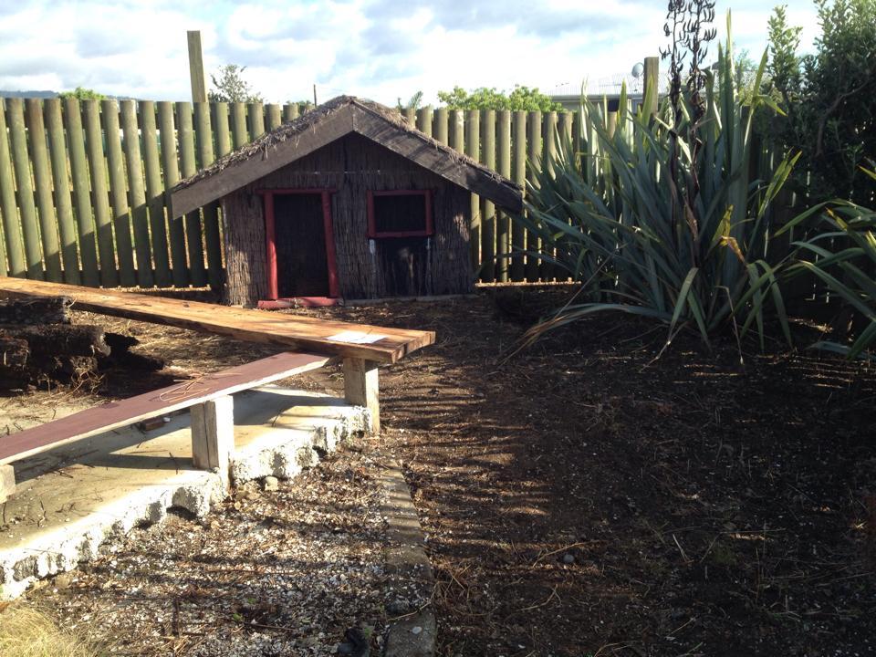 An image of Te Whangai Trust reconstructing the grounds at Wharekawa Marae in Kaiaua.